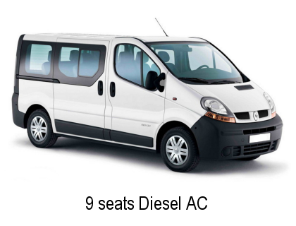 Faro 9 seater Diesel AC for Car Rental