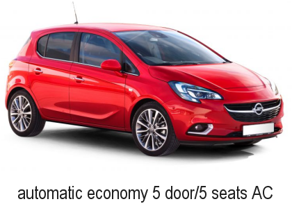 Car Rental Economy 5 seat Automatic AC